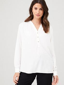 Warehouse Warehouse Pullover Top - Ivory Picture