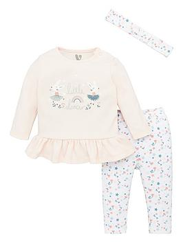 V by Very V By Very Baby Girls 3 Piece Ballerina Top, Leggings And  ... Picture