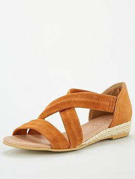 Office Office Hallie Wedge Sandals - Tan Gold Picture