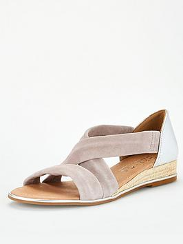 Office Office Hallie Wedge Sandal - Grey Silver Picture