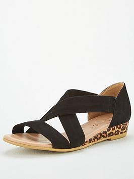 office-hallie-wedge-sandals-black