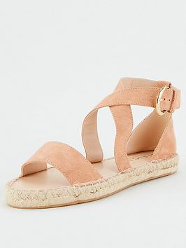 Office Office Savannah Crossover Flat Sandal - Nude Picture