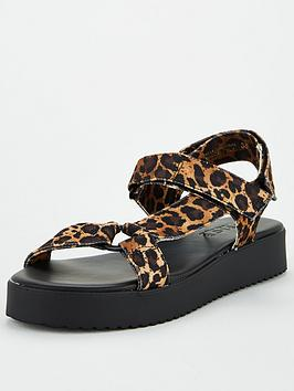 Office Office Sanity Flat Sandal - Leopard Picture
