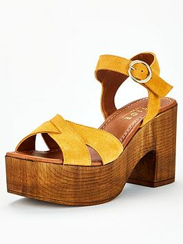 Office Office Marzipan Heeled Sandal - Mustard Picture