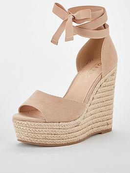 Office Office Winnie Wedge Sandal - Nude Picture
