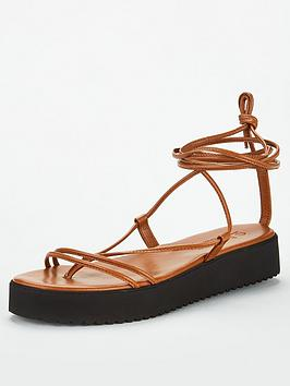 Office Office Skinny Flat Sandal - Tan Picture