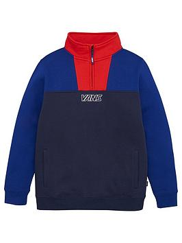 Vans Vans Childrens 1/4 Zip Sweatshirt - Blue/Red Picture