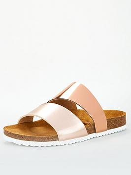 office-straight-flat-sandal-rose-gold