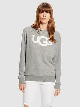 Ugg Ugg Fuzzy Logo Crewneck Sweatshirt Picture