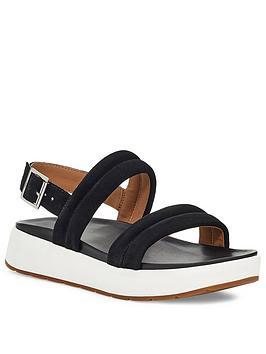 Ugg Lynnden Wedge Sandal - Black