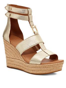 Ugg Ugg Kolfax Wedge Sandals - Gold Picture