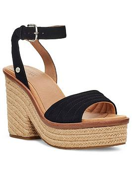 Ugg Ugg Laynce Wedge Sandals - Black Picture