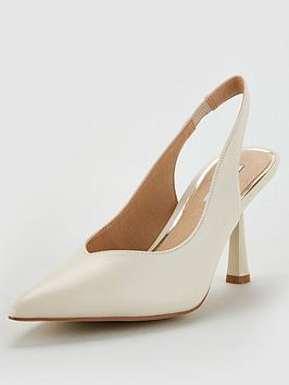 Office Office Morticia Heeled Shoe - Off White Picture