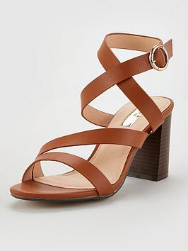 Office Office Maroon Heeled Sandals - Tan Picture