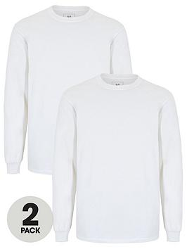 V by Very V By Very Two Pack Of Long Sleeved T-Shirts - White Picture