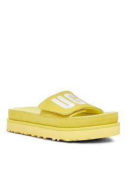 ugg-laton-wedge-sandals-yellow
