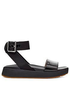 ugg-lennox-flat-sandal-black