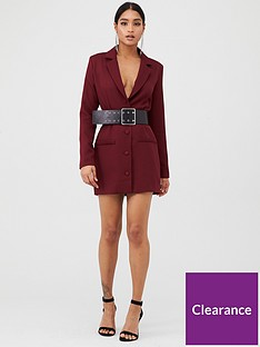 in-the-style-in-the-style-x-fashion-influx-single-breasted-longline-blazer-red