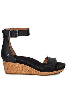ugg-zoe-ii-wedge-sandal-black