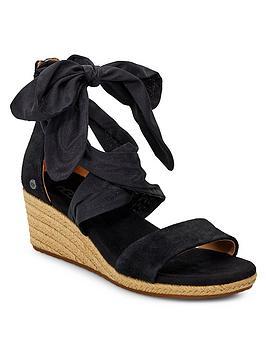 ugg-trina-wedge-sandals-black