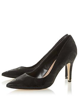 Dune London Dune London Anna Wide Fit Heeled Shoe - Black Picture