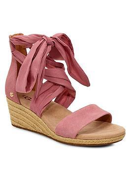 Ugg Ugg Trina Wedge Sandals - Pink Picture