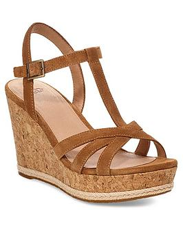 Ugg Ugg Melissa Wedge Sandals - Chestnut Picture