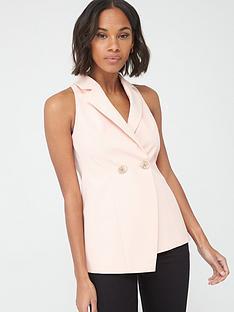 v-by-very-sleeveless-tailored-blazer-blush