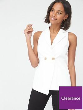 v-by-very-sleeveless-tailored-blazer-ivory