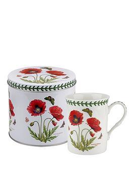 Product photograph showing Portmeirion Botanic Garden Poppy Mug Tin Set