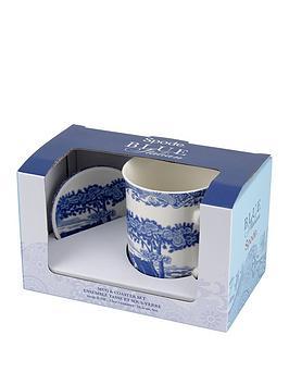 Portmeirion Portmeirion Spode Blue Italian Mugs And Coaster Set Picture