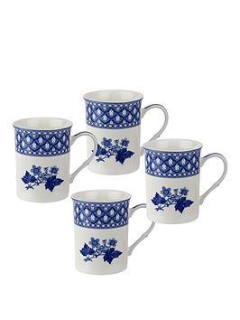 Portmeirion Portmeirion Spode Blue Room Set Of 4 Geranium Mugs Picture