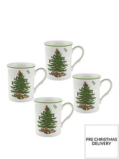 portmeirion-spode-christmas-tree-mugs-ndash-set-of-4