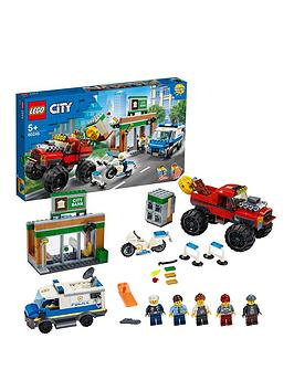 LEGO City Lego City 60245 Police Monster Truck Heist With Van And Motorbike Picture