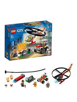 LEGO City  Lego City 60248 Fire Helicopter Response With Atv Quad Bike