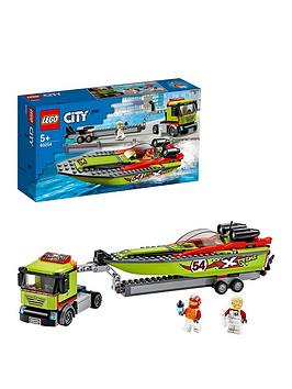 LEGO City  Lego City 60254 Race Boat Transporter With Speedboat