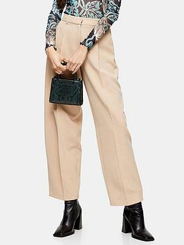 Topshop Topshop Elastic Back Peggy Slouch Trousers - Stone Picture