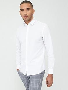 selected-homme-linen-slim-fit-shirt-white