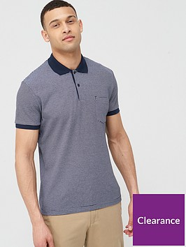 selected-homme-brighton-contrast-ribbed-polo-navy