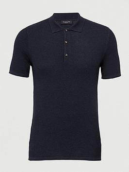 Selected Homme Selected Homme Rocky Knitted Polo Shirt - Navy Picture