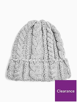 topshop-cable-knit-beanie-grey