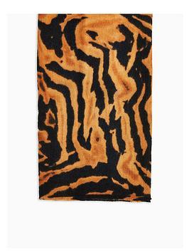 topshop-lightweight-tiger-scarf-brown