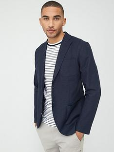 selected-homme-dave-linen-slim-fit-blazer-navy