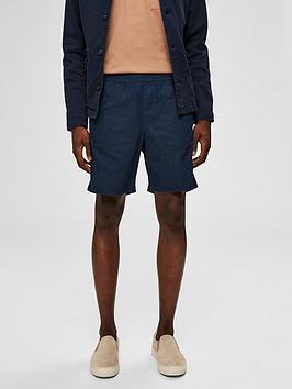 selected-homme-cooper-linen-shorts-navy