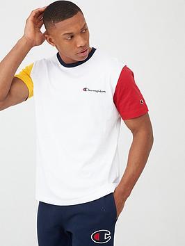 Champion Champion Team Stripes Crew Neck T-Shirt - White Picture