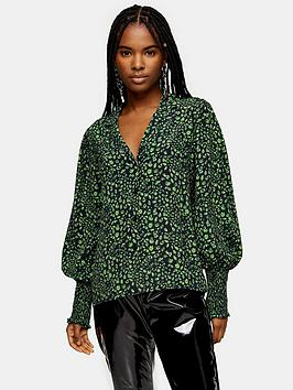 Topshop Topshop Fan Shirt - Green Picture