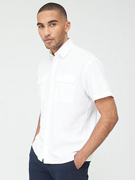Selected Homme Selected Homme Shadow Short Sleeve Shirt - White Picture