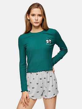 topshop-panda-long-sleeve-pajama-set-multi