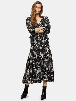 Topshop Topshop Twist Austin Midi Dress - Mono Picture
