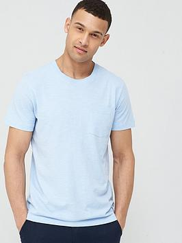 Selected Homme Selected Homme Jared Slub Tee - Blue Picture